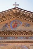 Rom - Jesus von der Fassade von Sankt Pudenziana Stockfotografie
