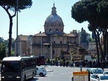 Rom - Kirche von Heiligen Luca und Martina Stockfotos