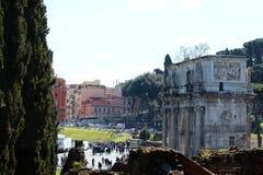 Rom, Konstantinsbogen Stockbild