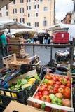 Rom, Markt Campo-Des 'Fiori Stockfotos