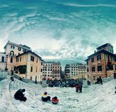 Rom-Marktplatz di Spagna stockfotografie
