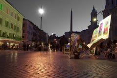 Rom. Marktplatz navona Stockfotos