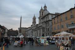 Rom-Marktplatz Navona in Italien Lizenzfreies Stockfoto