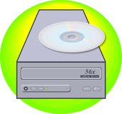 ROM-minne för cd drev Arkivfoto