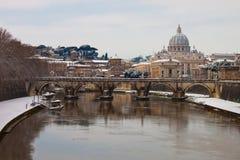 Rom mit Schnee stockbilder