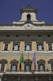 Rom- - Montecitorio-Palast die Fassade Lizenzfreie Stockfotografie