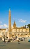 Rom Piazza Del Popolo Lizenzfreies Stockfoto