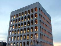 Rom, quadratisches Colosseum stockfotografie