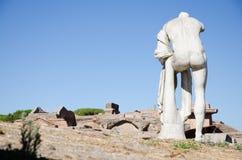 rom Ruinen von Ostia Antica Stockfotografie