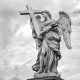 Rom santangelo castel статуи, Италия Стоковые Изображения