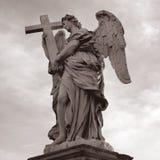 Rom santangelo castel статуи, Италия Стоковые Фотографии RF
