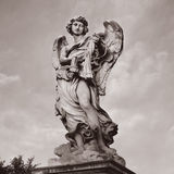 Rom santangelo castel статуи, Италия Стоковое Фото