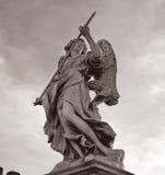 Rom santangelo castel статуи, Италия Стоковые Изображения RF