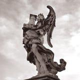 Rom santangelo castel статуи, Италия Стоковое Изображение RF