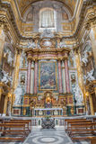 Rom - Seitenaltar barocken Kirche Basilika dei Santi Ambrogio e Carlo al Corso Stockbild