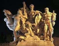 Rom - Skulptur Vittorio Emanuele von der Brücke lizenzfreies stockbild
