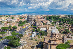 Rom-Stadtskyline - Italien Stockfotos