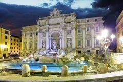 Rom - Trevi-Brunnen, Italien stockbilder