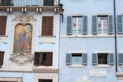 Rom und unterzeichnen herein Marktplatz della rundes Madonna Stockbilder