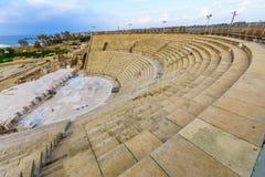 Romański teatr w Caesarea parku narodowym zdjęcie stock