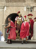 Romańscy żołnierze Zdjęcia Stock