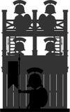 Romańscy centurionów żołnierze przy wieżą obserwacyjną Zdjęcie Stock