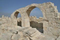 Romańscy zabytki Kourion, Cypr zdjęcia stock