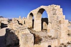 Romańscy zabytki Kourion, Cypr zdjęcia royalty free