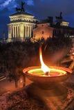 Romańscy zabytki przy piazza Venezia nigh wewnątrz, Rzym Zdjęcie Royalty Free