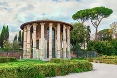 Romańska świątynia Hercules zwycięzca Hercules lub Hercules Olivarius zwycięzca Fotografia Stock