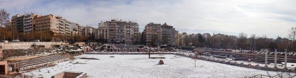 Roma?ska agora w Saloniki, Grecja zdjęcie royalty free