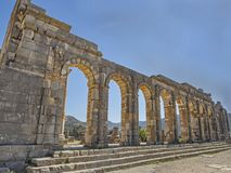 Romańska bazylika w Volubilis, Maroko obrazy royalty free