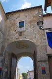 Romańska brama. Amelia. Umbria. Włochy. Obrazy Royalty Free