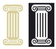 Romańska kolumna w wektorze royalty ilustracja