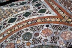 Romańska mosaïc podłoga Zdjęcia Stock
