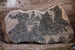 Romańska mozaiki podłoga Obraz Stock
