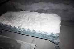 Romański łóżko zdjęcia royalty free