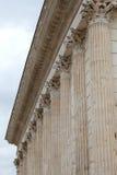 Romański Świątynny Maison Carrée w Nîmes, Francja zdjęcia stock