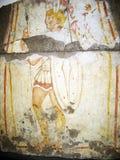 Romański żołnierza fresk zdjęcia royalty free