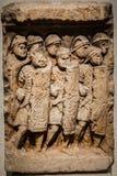 Romański żołnierza Gravestone Lion Francja zdjęcie stock
