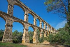 Romański akwedukt «El ponte Del Diablo «most diabeł blisko Tarragona, Hiszpania zdjęcie royalty free
