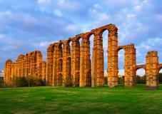 Romański akwedukt Merida Obraz Royalty Free