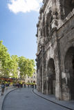 Romański Amphitheatre Nimes Fotografia Royalty Free