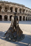 Romański amphitheatre, Nimes, Francja Zdjęcie Royalty Free