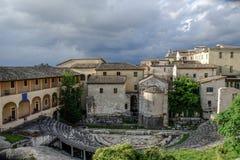 Romański Amphitheatre Spoleto Włochy Obraz Royalty Free