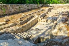 Romański bathhouse w Emmaus-Nicopolis fotografia stock