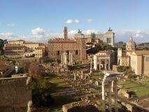 Romański forum, historyczny miejsce, antyczny Rome, średniowieczna architektura, miasto Fotografia Royalty Free
