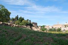 Romański forum i palatino w Rome w Lazio w Italy obraz royalty free