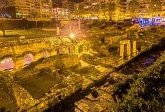 Romański forum, starożytny grek agora w Saloniki Obrazy Royalty Free