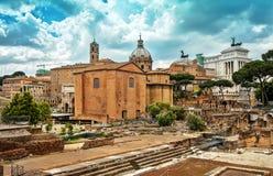 Romański forum w Rzym, Obrazy Stock